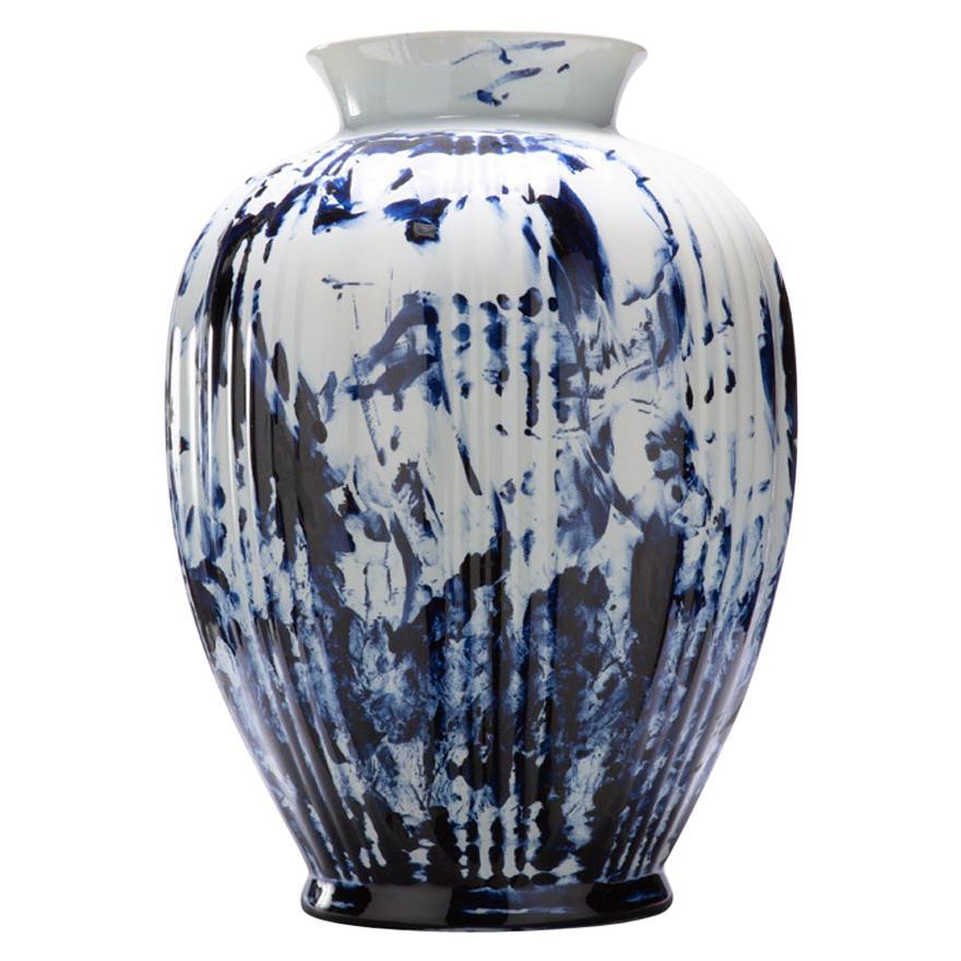 Vase Big, by Marcel Wanders, Delft Blue Hand-Painted, 2006, Unique #100039/1