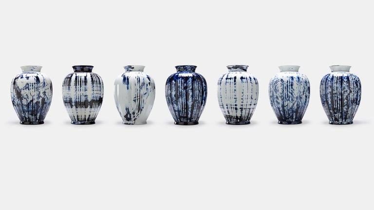 One minute delft blue - vase big is available as an exclusive Personal Edition, Marcel's label carrying works of a more personal and experimental nature. The pieces of the Delft Blue series are unlimited unique by Marcel's One Minute Delft Blue