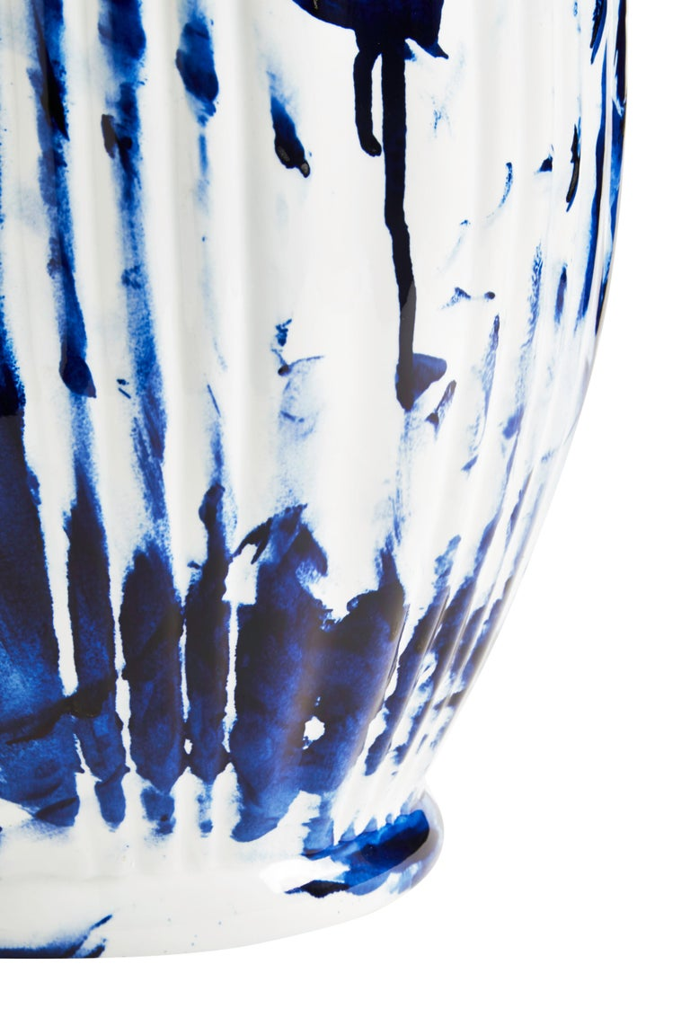 Vase Big, by Marcel Wanders, Delft Blue Hand-Painted, 2006, Unique #100039/6 In New Condition For Sale In Amsterdam, NL