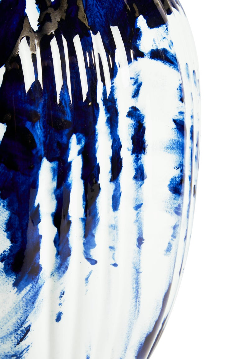 Contemporary Vase Big, by Marcel Wanders, Delft Blue Hand-Painted, 2006, Unique #100039/6 For Sale