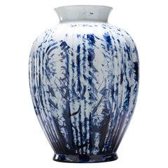 Vase Big, by Marcel Wanders, Delft Blue Hand-Painted, 2006, Unique #100039/6