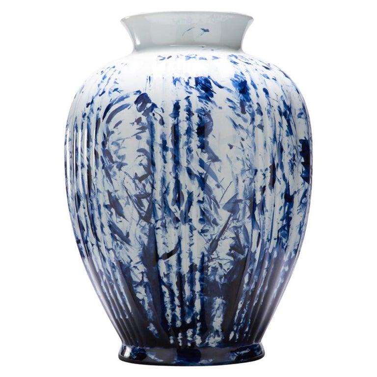 Vase Big, by Marcel Wanders, Delft Blue Hand-Painted, 2006, Unique #100039/6 For Sale