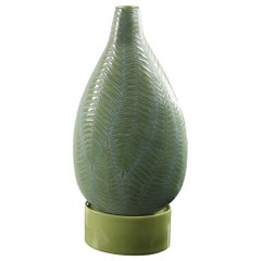 Vase Bottle Fern Big with Base, in Gres Porcelain, Italy