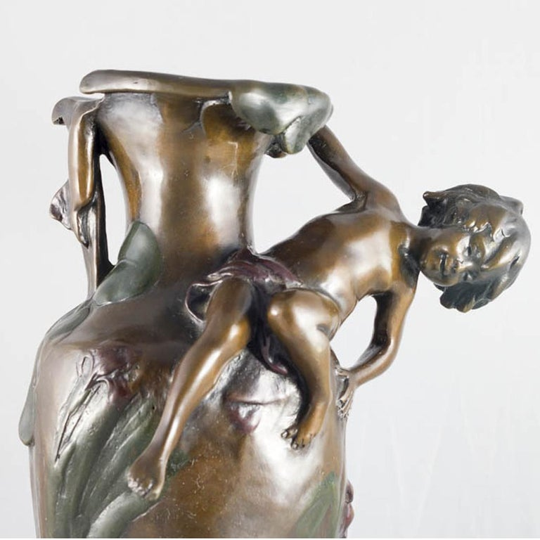 Early 20th Century Vase Bronze Art Nouveau For Sale