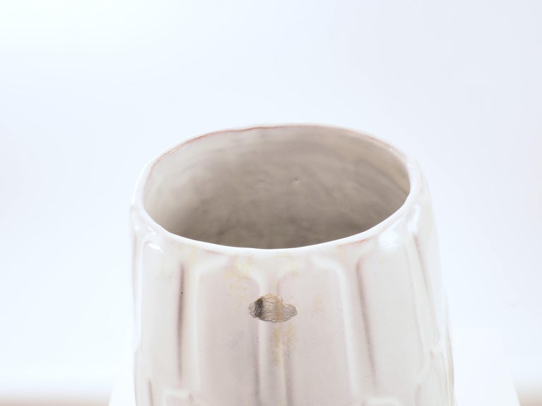 Mid-20th Century Off white Floor Vase by Anna-Lisa Thomson for Upsala-Ekeby, Sweden. 1940's. For Sale