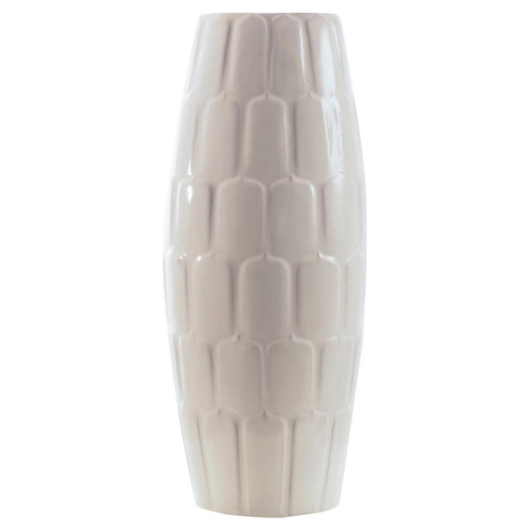 Off white Floor Vase by Anna-Lisa Thomson for Upsala-Ekeby, Sweden. 1940's. For Sale