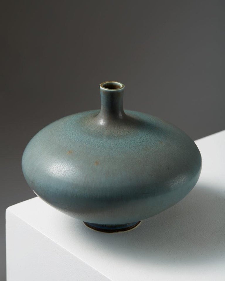 Mid-Century Modern Vase by Berndt Friberg for Gustavsberg, Sweden. 1976. For Sale