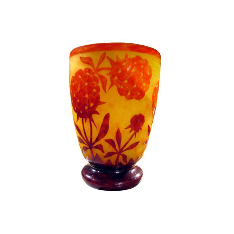 Vase by Le Verre Francais