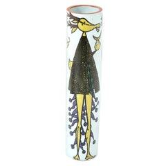 Vase by Stig Lindberg, Ceramic, Scandinavian Midcentury, Faience