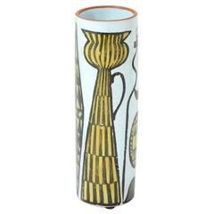 Vase, Ceramic, by Stig Lindberg, Sweden, circa 1950, Multi-Colors, Modern Art