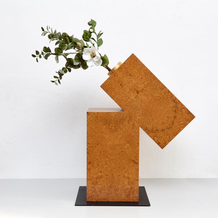 Late 20th Century Vase D by Ettore Sottsass 'Twenty-seven Woods for Chinese Artificial Flowers' For Sale