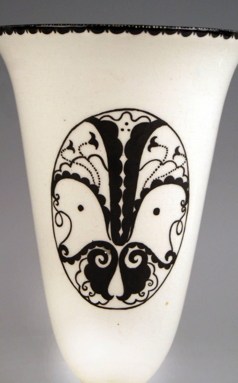 Art Nouveau Vase Dagobert Peche Gmunden Ceramics Model 290 Made circa 1919 For Sale