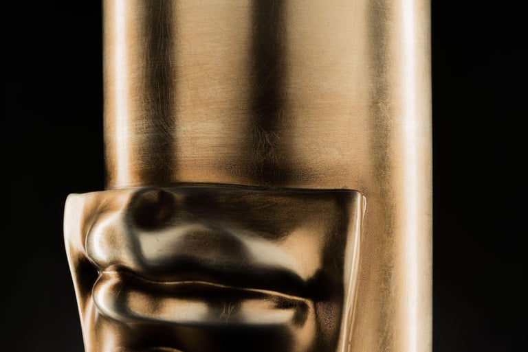 Vase 'David by Michelangelo' Mouth, Brass Metal Finish, in Ceramic, Italy In New Condition For Sale In Quinto di Treviso, Treviso