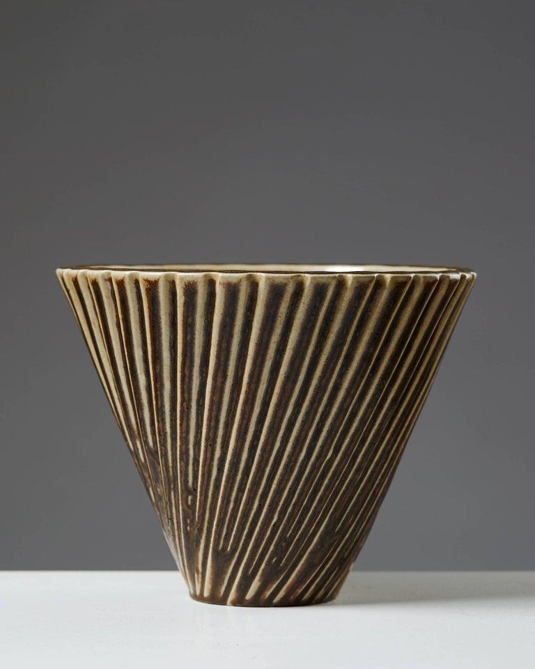 Scandinavian Modern Vase Designed by Arno Malinowski for Royal Copenhagen, Denmark, 1950s For Sale
