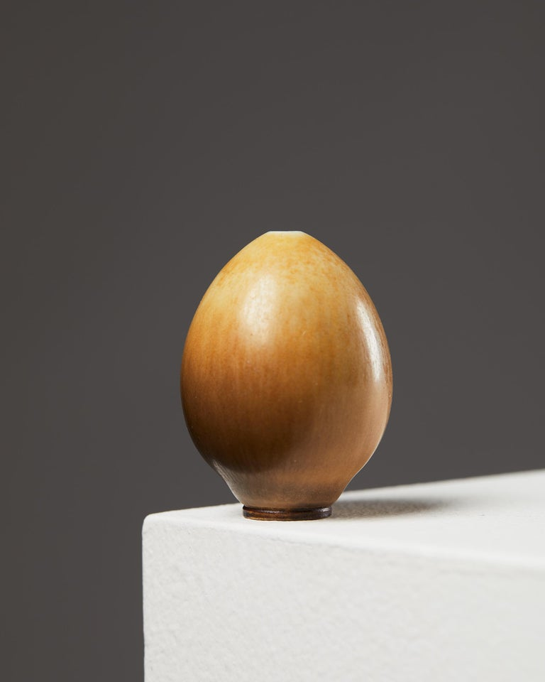 Mid-Century Modern Vase Designed by Berndt Friberg for Gustavsberg, Sweden, 1960s For Sale