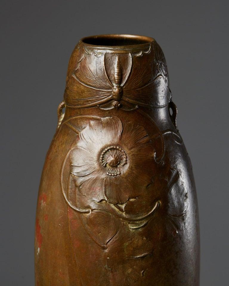 Vase Designed by Hugo Elmqvist, Sweden, circa 1900 In Good Condition For Sale In Stockholm, SE