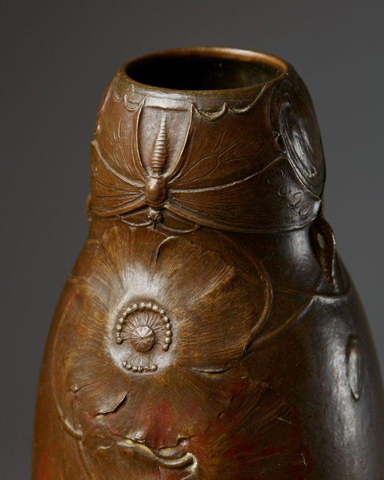 Early 20th Century Vase Designed by Hugo Elmqvist, Sweden, circa 1900 For Sale