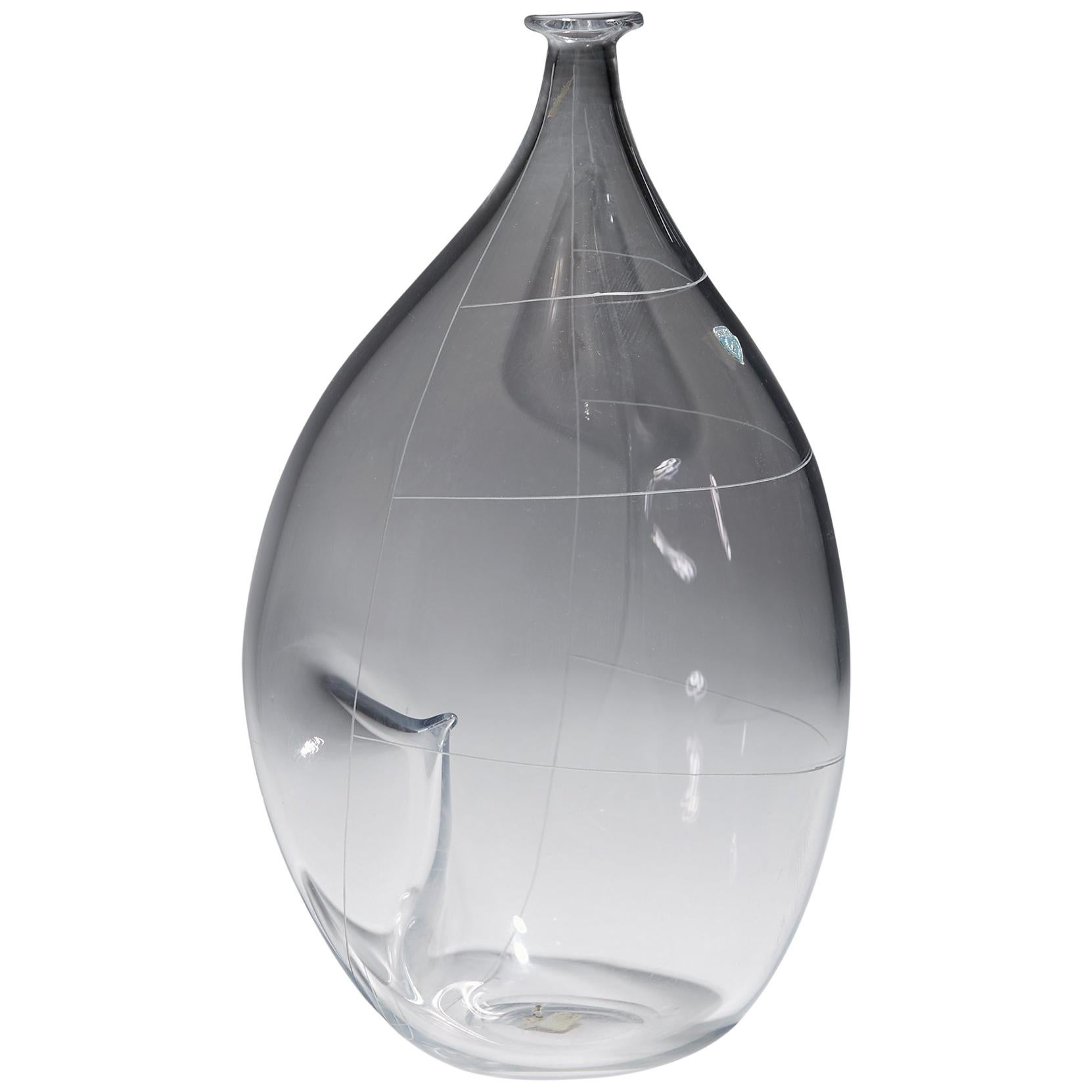 Vase Designed by Ingeborg Lundin for Orrefors, Sweden, 1955