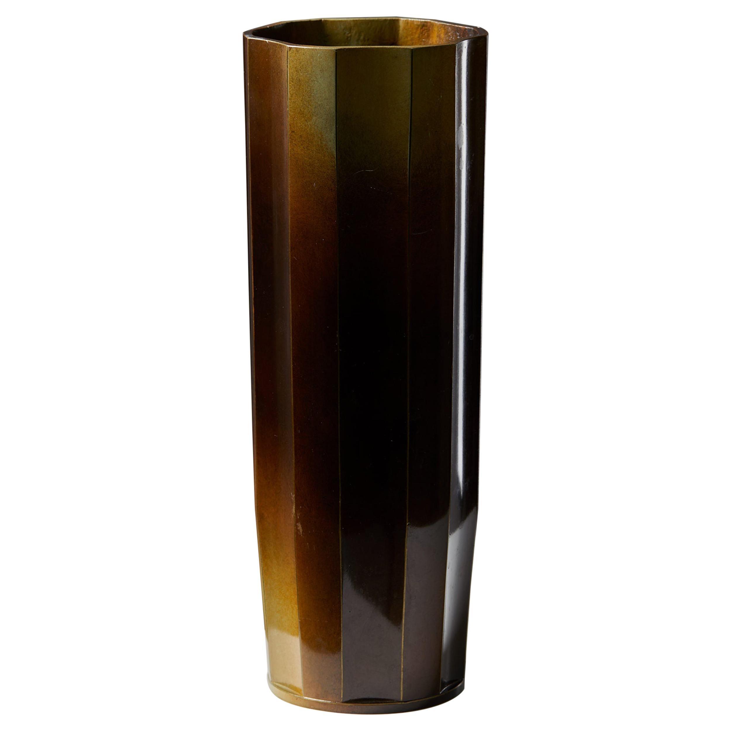Vase Designed by Ivar Ålenius-björk for Ystad Brons, Sweden, 1930s