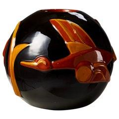 Vase Designed by Margareta Wibom for Bo Fajans, Sweden, 1930s