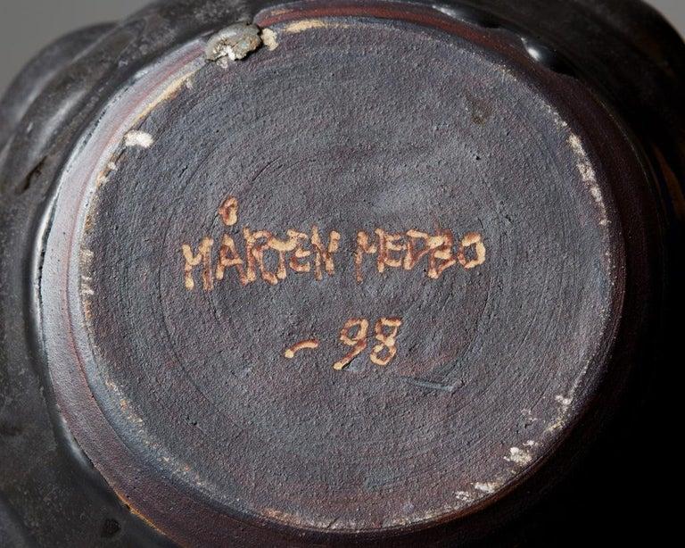 Stoneware Vase Designed by Mårten Medbo, Sweden, 1998 For Sale
