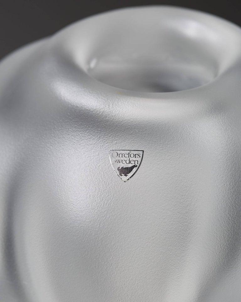 Swedish Vase Designed by Per B. Sundberg for Orrefors, Sweden, 1990s For Sale