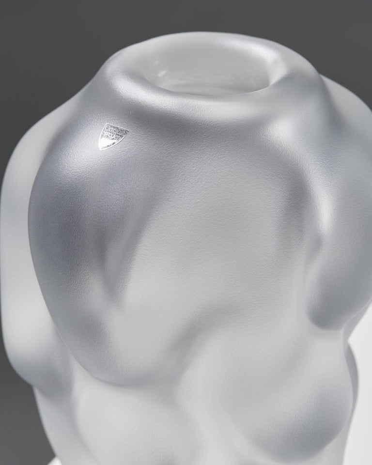 Vase Designed by Per B. Sundberg for Orrefors, Sweden, 1990s In Excellent Condition For Sale In Stockholm, SE