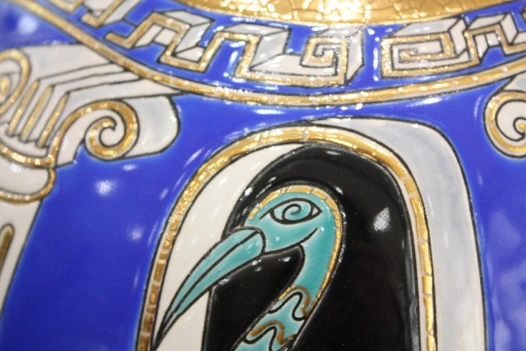 Vase Emaux de Longwy, Métaphore by V. Darré For Sale 3