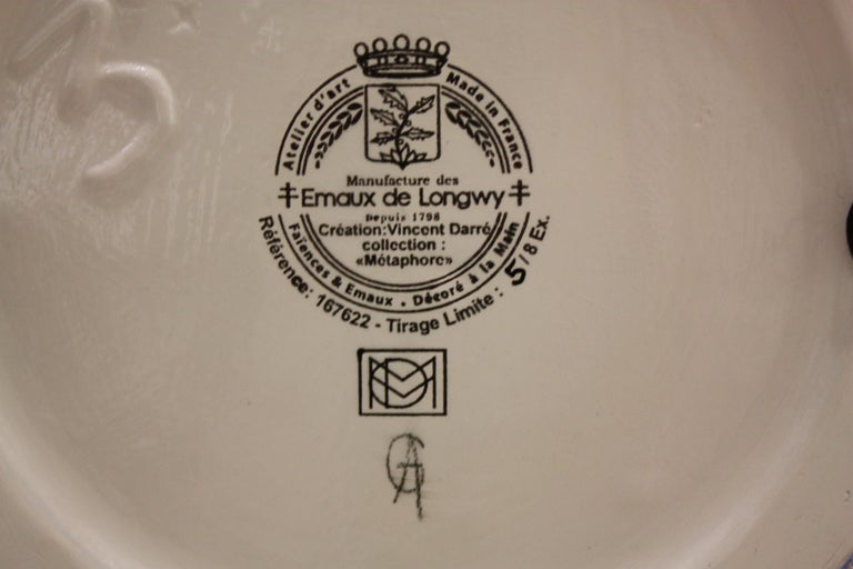 Vase Emaux de Longwy, Métaphore by V. Darré For Sale 4