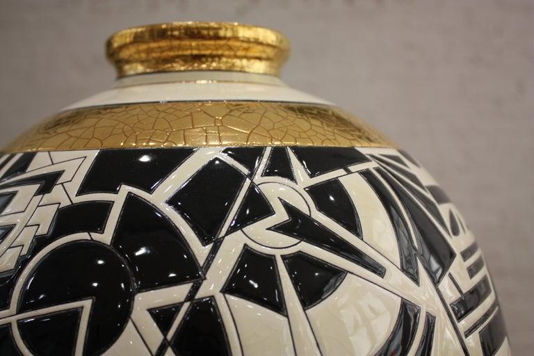 Vase Emaux de Longwy, Motifs For Sale 3