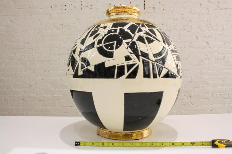 Vase Emaux de Longwy, Motifs In New Condition For Sale In Mareil-Marly, Yvelines