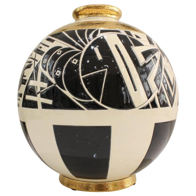 Vase Emaux de Longwy, Motifs For Sale