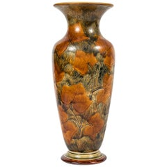 Tall Vase with Leaves by Royal Doulton