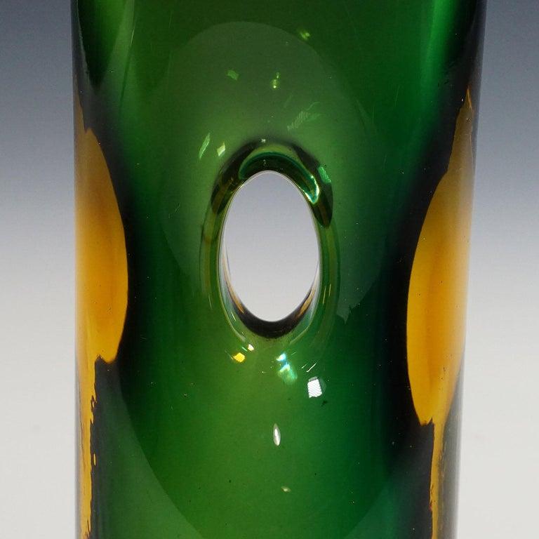 Italian Vase Forato by Fulvio Bianconi for Venini, Murano, 1950s For Sale