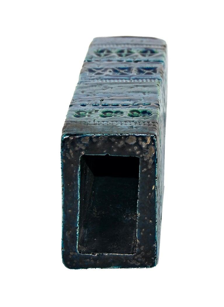 Italian Vase from Rimini Blue Series, Aldo Londi for Bitossi, 1960s For Sale