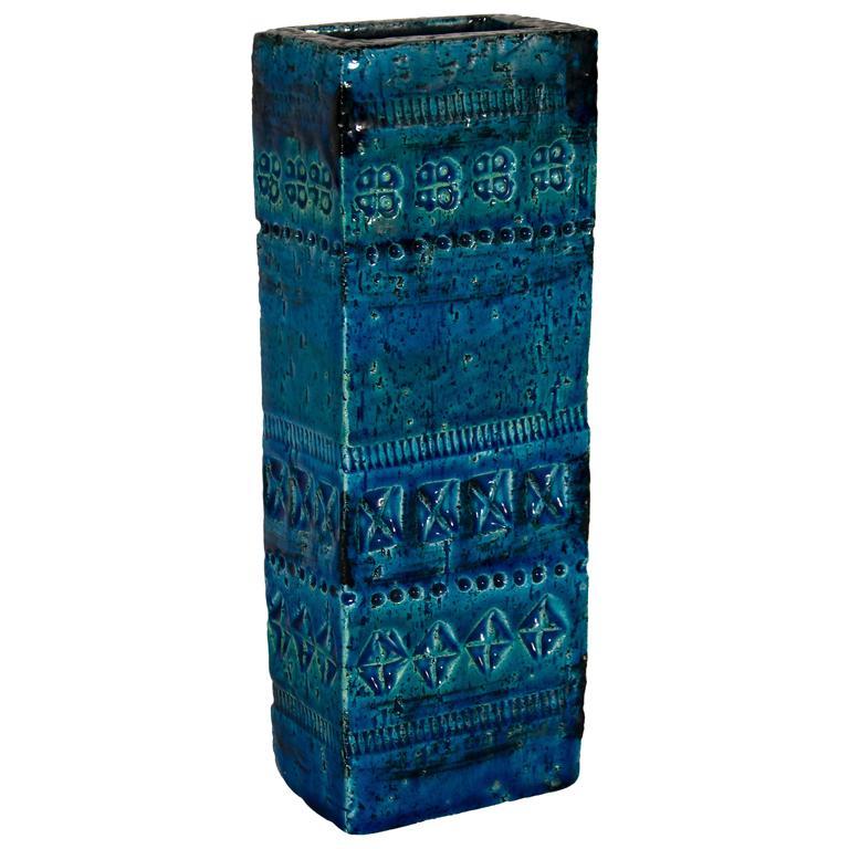 Vase from Rimini Blue Series, Aldo Londi for Bitossi, 1960s For Sale