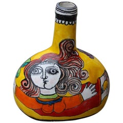 Vase Giovanni de Simone Ceramica Pottery Italian Design Multi-Color Woman