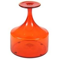 Vase, Glass, Midcentury, Greenwich Flint Craft, circa 1950, Vintage, USA