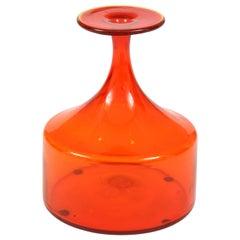 Vase, Glass, Midcentury, Greenwich Flint Craft, circa 1950, Vintage