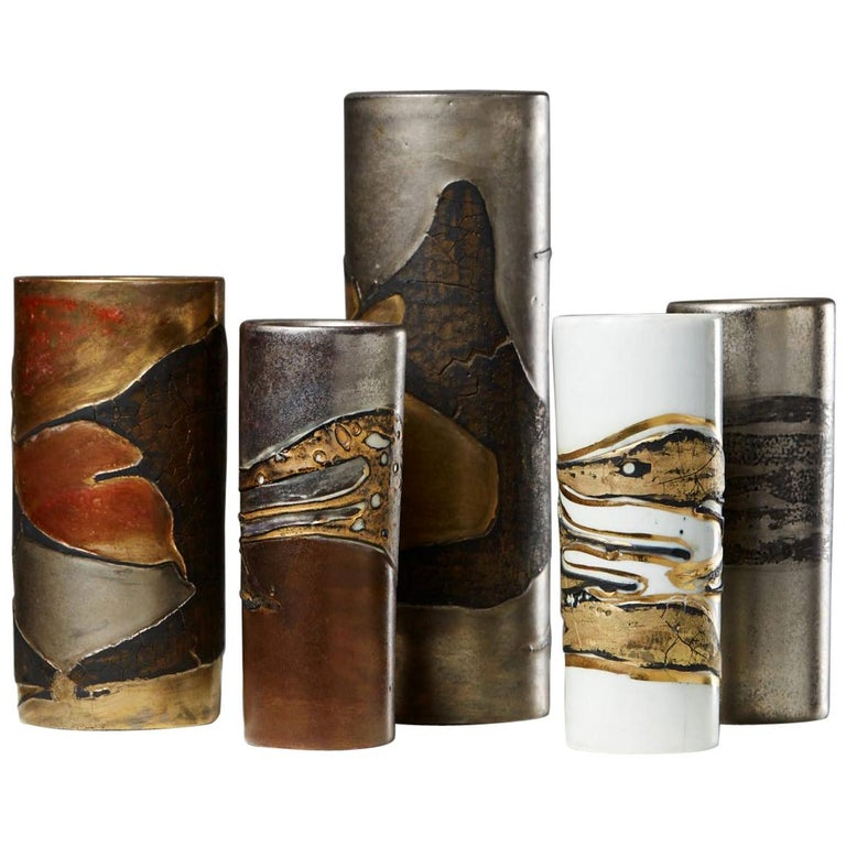 Vase Group Designed by Toini Muona for Arabia, Finland, 1960s For Sale