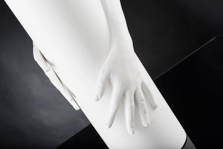 Modern Vase Hands, Matt White Ceramic, Italy For Sale