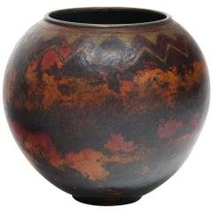"Vase ""Herringbone and triangle frieze"""