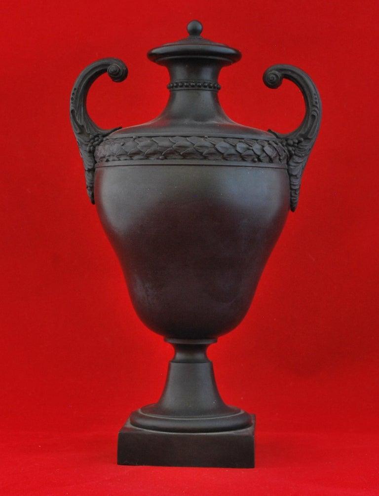 Neoclassical Vase in Black Basalt, Wedgwood & Bentley, circa 1773