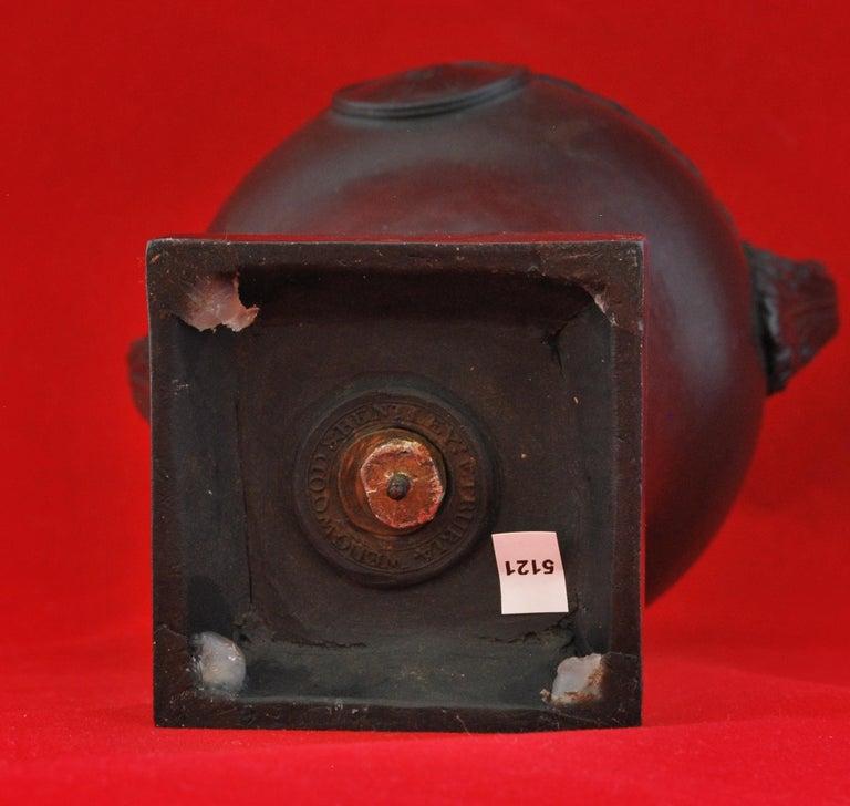 Turned Vase in Black Basalt, Wedgwood & Bentley, circa 1773