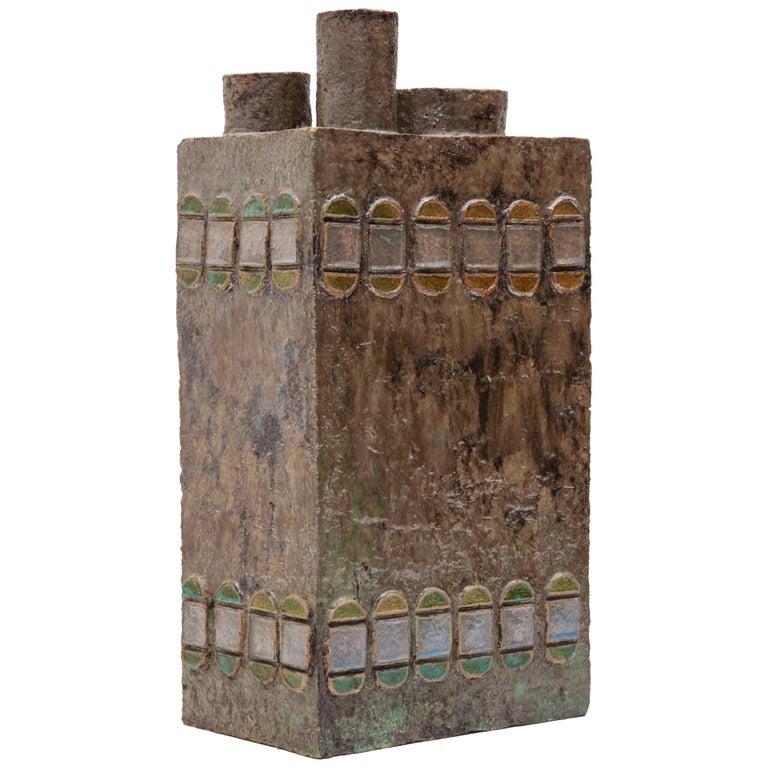 Vase in Ceramic Constructivist, Belgium, 1970s For Sale
