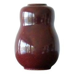 Vase in Oxblood Glaze