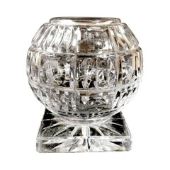 20th Century  Crystal cut Vase in the Shape of a Sphere , France, 1938-1940
