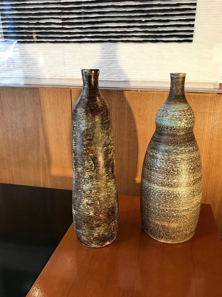 Mid-20th Century Vase / Lamp by Ceramic Artists Les 2 Potiers For Sale