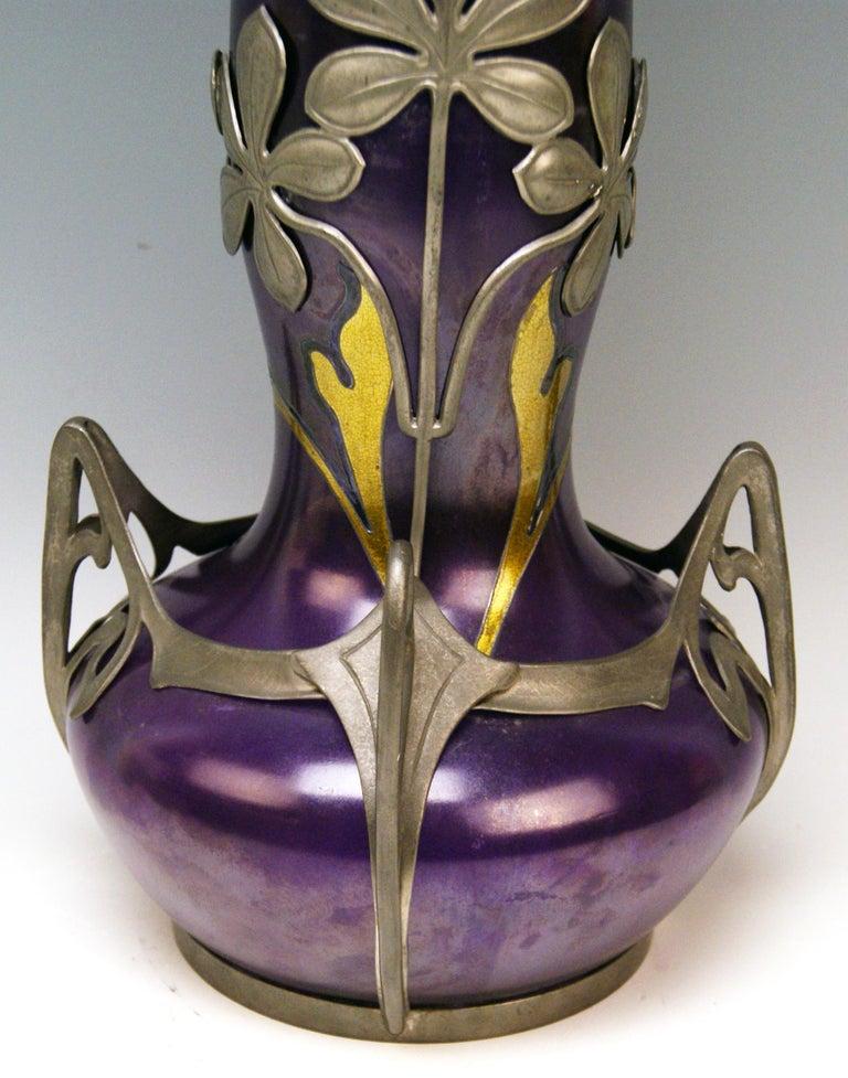 Glass Vase Loetz Widow Klostermuehle Art Nouveau 1902 Phaenomen Genre Turmalin 2/538