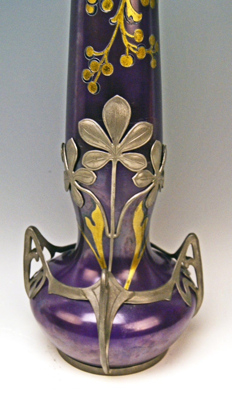 Vase Loetz Widow Klostermuehle Art Nouveau 1902 Phaenomen Genre Turmalin 2/538  1